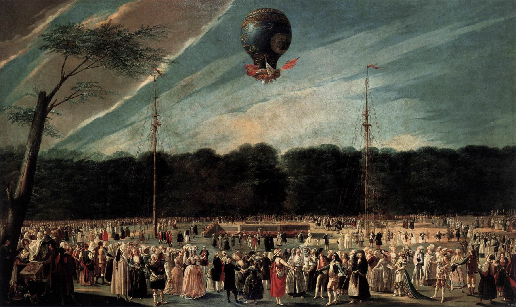 Antonio_Carnicero_Y_Mancio_-_Ascent_of_the_Monsieur_Bouclé's_Montgolfier_Balloon_in_the_Gardens_of_Aranjuez_-_WGA04273
